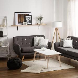 3-Sitzer Sofa Polsterbezug dunkelgrau BODO