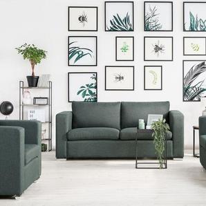 3-Sitzer Sofa Polsterbezug dunkelgrau HELSINKI