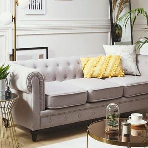 3-Sitzer Sofa Polsterbezug hellgrau CHESTERFIELD