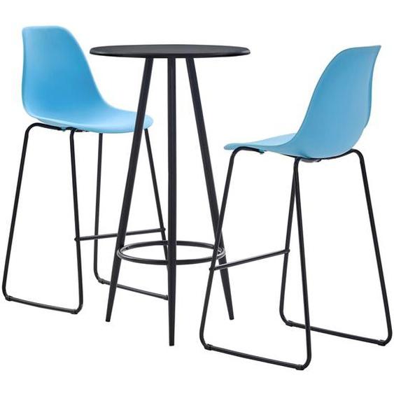 3-tlg. Bar-Set Kunststoff Blau