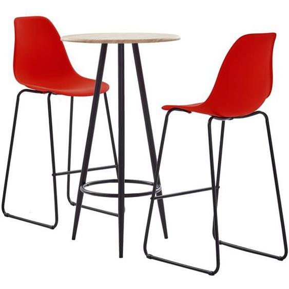 3-tlg. Bar-Set Kunststoff Rot