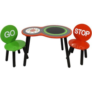 3-tlg. Kinder Tisch und Stuhl-Set Rennwagen Glines