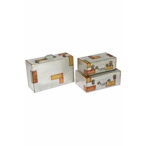 3-tlg. Koffer-Set Aluminium and Copper