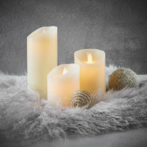 3-tlg. LED-Kerze Set Glowing Flame