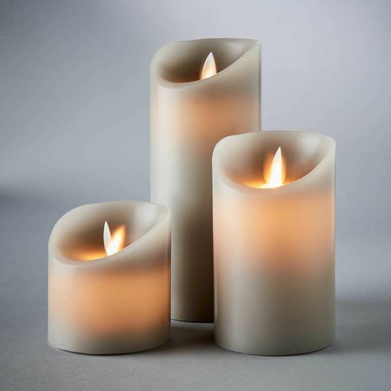 3-tlg. LED-Kerzen-Set Glowing