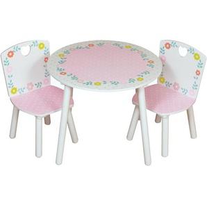 3-tlg. rundes Kinder Tisch und Stuhl-Set Crook