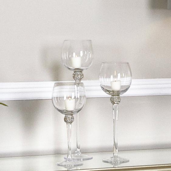 3-tlg. Windlicht-Set Gemma aus Glas