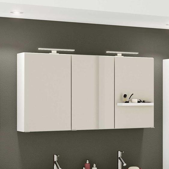 3 türiger Badezimmer Spiegelschrank in Weiß 120 cm breit