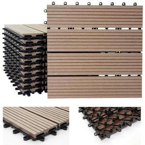 30 cm x 30 cm Holzoptik-Set aus WPC