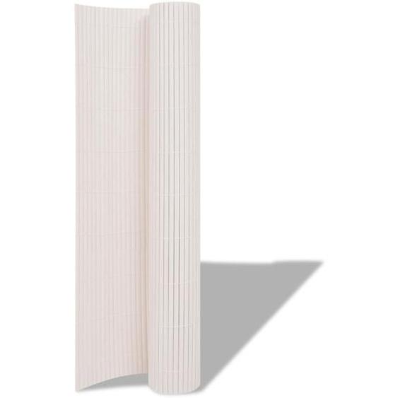 300 cm x 90 cm Gartenzaun Striegel aus PVC