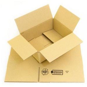 300 x Faltkartons 230x170x80 mm - Kartons braun - 1 wellig Versandkartons - KK VERPACKUNGEN