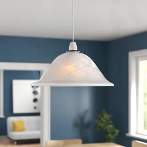 33 cm Lampenschirm für Pendelleuchte Alabaster aus Glas