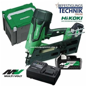 34° HiKoki 18V/36 Multi Volt 2x8,0Ah Akku Nagler 50-90mm NR1890DBCL WQZ-EN13910