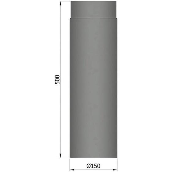 37,96 €/m Rauchrohr Ofenrohr Rohr Kaminrohr Kamin 150x500mm Stahlblech
