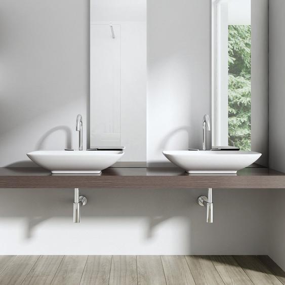 370 mm Rechteckig Aufsatz-Waschbecken Brüssel aus Keramik
