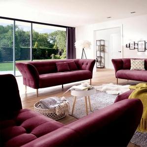 andas Polstergarnitur »Trelleborg«, 2,5- und 3-Sitzer skandinavisches Design mit feiner Steppung und Holzfüßen