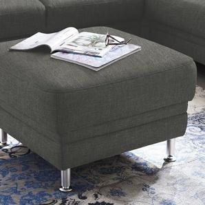DELAVITA Polsterhocker Korfu 0, Chenilleoptik grau Hocker Nachhaltige Möbel