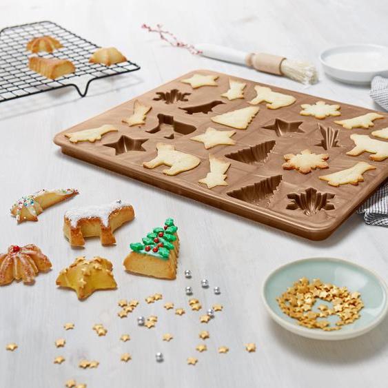 3D-Keksbackform - Goldfarben -