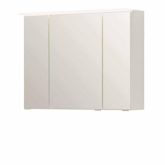 3D Spiegelschrank in Weiß 80 cm