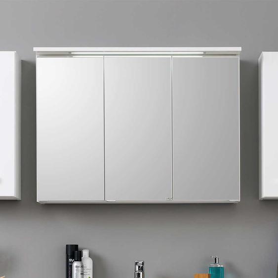 3D Spiegelschrank in Weiß modern