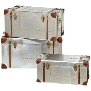 3er-Set Aufbewahrungsboxen  Rimini ¦ silber ¦ Maße (cm): B: 82 H: 47 T: 43 Kommoden & Sideboards  Kommoden » Höffner