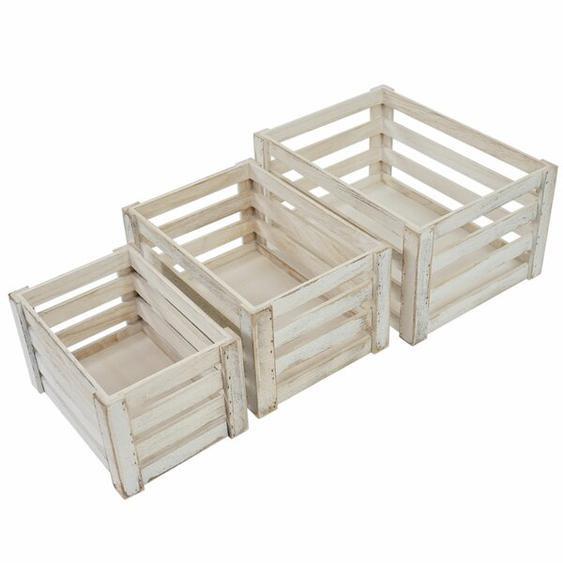 3tlg. Kisten-Set Kim aus Holz