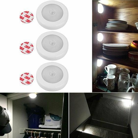 3x Led Nachtlicht Mit Bewegungsmelder Sensor Nachtleuchte Treppe