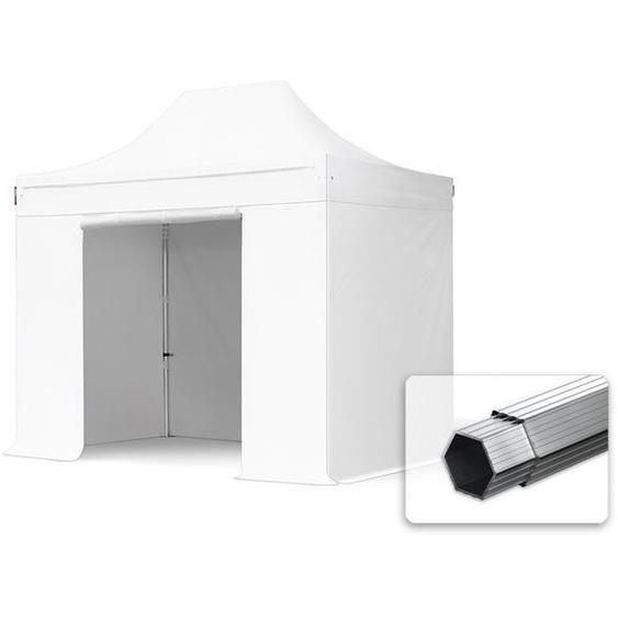 3x2 m Faltpavillon PROFESSIONAL Alu 40mm, Seitenteile ohne Fenster, weiß