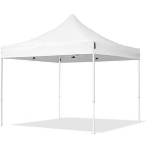 3x3 m Faltpavillon ECONOMY Stahl 30 mm, weiß