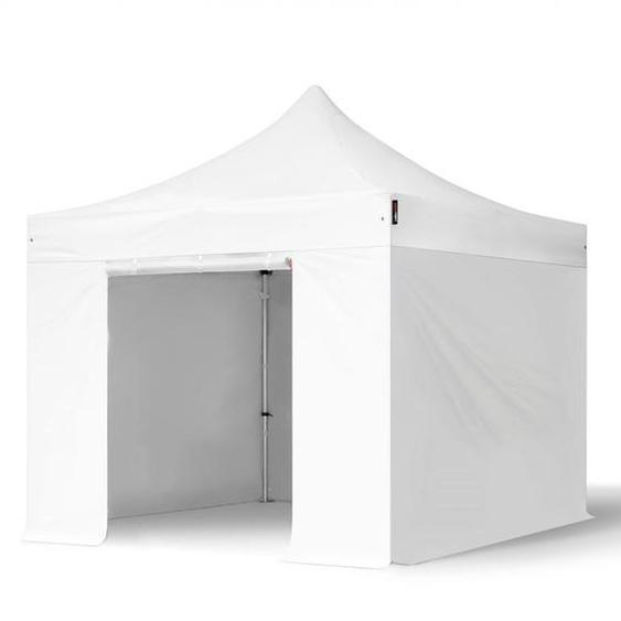 3x3 m Faltpavillon PROFESSIONAL Alu 40mm, Seitenteile ohne Fenster, weiß