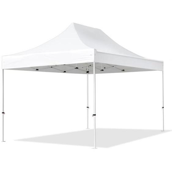 3x4,5 m Faltpavillon, ECONOMY Stahl 30mm, weiß