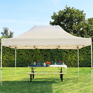 3x4,5 m Faltpavillon PREMIUM Alu 36 mm, creme