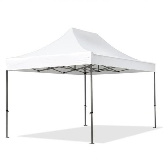 3x4,5 m Faltpavillon, PREMIUM Stahl 40mm, weiß