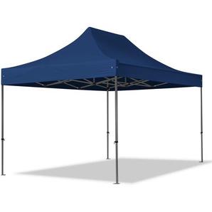 3x4,5 m Faltpavillon PROFESSIONAL Stahl 40 mm, blau