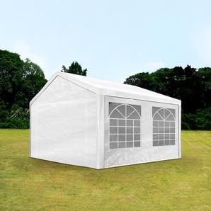 3x4 m Partyzelt, PE-Plane 180 g/m², weiß