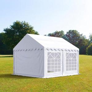 3x4 m Partyzelt, PVC-Plane 500 g/m², weiß