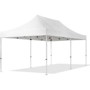 3x6 m Faltpavillon PROFESSIONAL Alu 40 mm, feuersicher, weiß