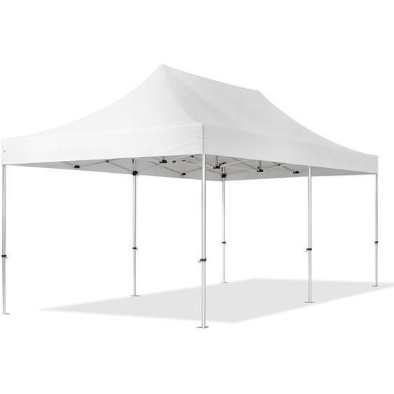 3x6 m Faltpavillon, PROFESSIONAL Alu 40mm, feuersicher, weiß