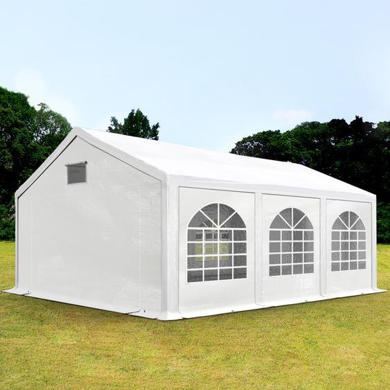 3x6 m Partyzelt, PE 300 g/m², mit Bodenrahmen, weiß