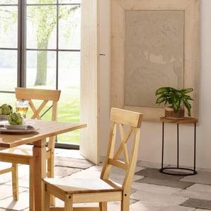 Home affaire Stuhl , beige, 2er-Set, »Malaga«, FSC®-zertifiziert