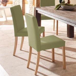 Home affaire Stuhl , grün, 2er-Set, Kunstleder, Beine Buche, »Nina«, FSC®-zertifiziert
