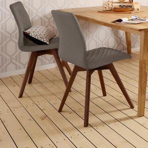 Stühle , braun, 2er Set, Beine Nussbaum, »Rania«, FSC®-zertifiziert, andas