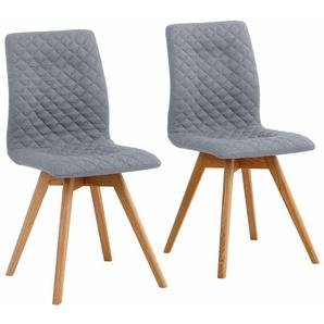 Stühle »Rania«, grau, 2er Set, Beine Eiche, FSC®-zertifiziert, andas