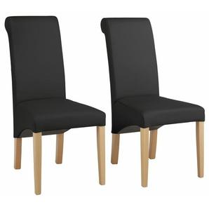 Home affaire Stühle schwarz, 4er Set, »Rito«, pflegeleichtes Kunstleder, FSC®-zertifiziert