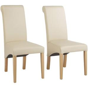 Home affaire Stühle beige, 6er Set, »Rito«, pflegeleichtes Kunstleder, FSC®-zertifiziert