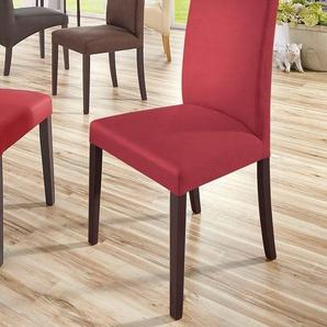 Home affaire Stühle »Roko« rot, 6er Set, Kunstleder, Beine kolonialfarben, strapazierfähig, FSC®-zertifiziert
