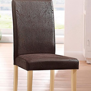 Home affaire Stühle »Roko« braun, 4er Set, strapazierfähig, FSC®-zertifiziert