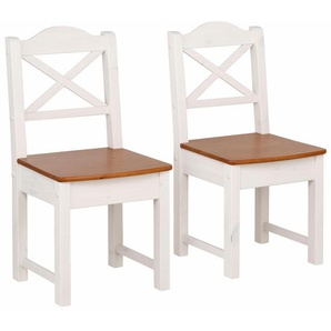 Home affaire Stuhl weiß, 2er Set, »Vanda«, FSC®-zertifiziert