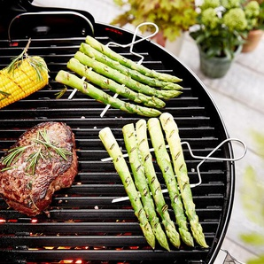 4 Gemüse-Grillspieße - silber - Edelstahl -