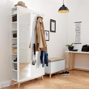 4-in1-Flurschrank - silber - Holz -